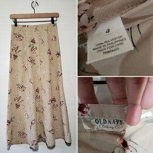 Vintage Old Navy Floral Skirt